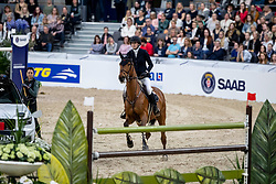 SWARTZ Erica (SWE), Jovita<br /> Göteborg - Gothenburg Horse Show 2019 <br /> Gothenburg Trophy presented by VOLVO - Stechen<br /> Int. jumping competition with jump-off (1.55 m)<br /> Longines FEI Jumping World Cup™ Final and FEI Dressage World Cup™ Final<br /> 06. April 2019<br /> © www.sportfotos-lafrentz.de/Stefan Lafrentz