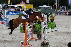 Johnstone Sarah - Abarlo<br /> KWPN Paardendagen - Ermelo 2012<br /> © Dirk Caremans
