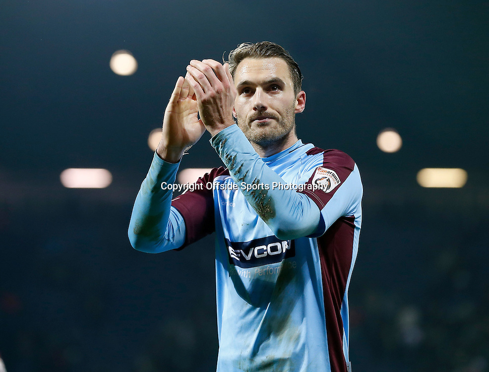 3rd January 2015 - FA Cup 3rd Round - West Bromwich Albion v Gateshead - Alex Rodman of Gateshead salutes the fans at the end of the game - Photo: Paul Roberts / Offside.