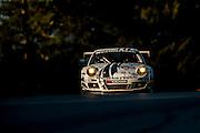 Cooper MacNeil, Leh Keen and Dion von Moltke, Alex Job Racing (GTC) Porsche 911 GT3 Cup, Petit Le Mans. Oct 18-20, 2012. © Jamey Price