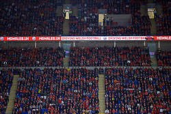 CARDIFF, WALES - Friday, September 6, 2019: MG Motors Wales advertising during the UEFA Euro 2020 Qualifying Group E match between Wales and Azerbaijan at the Cardiff City Stadium. (Pic by Paul Greenwood/Propaganda)