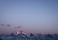 Alpes Suisse Valais Neige ciel coucher soleil tourisme montagne <br /> Alps Switzerland Valais Snow sky sunset mountain tourism<br /> <br /> Alpen-Schweiz-Wallis-Schneehimmelsonnenuntergang-Gebirgstourismus<br /> <br /> (OLIVIER MAIRE)