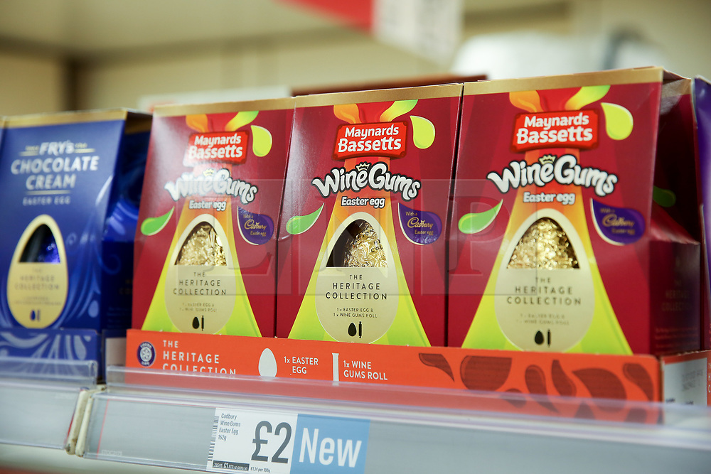 © Licensed to London News Pictures. 03/01/2020. London, UK. Wine Gums Easter Eggs are on sale in Iceland store in Haringey, North London, just nine days after Christmas Day. This year Easter Sunday is on 12 April 2020. Photo credit: Dinendra Haria/LNP