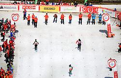 17.03.2017, Ramsau am Dachstein, AUT, Special Olympics 2017, Wintergames, Schneeschuhlauf, Divisioning 100 m, im Bild drei Athletinnen beim Zieleinlauf // three athletes in the finish area during the Snowshoeing Divisioning 100 m at the Special Olympics World Winter Games Austria 2017 in Ramsau am Dachstein, Austria on 2017/03/17. EXPA Pictures © 2017, PhotoCredit: EXPA / Martin Huber