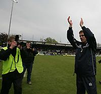 Photo: Lee Earle.<br /> Yeovil Town v Colchester United. Coca Cola League 1. 06/05/2006. Colchester manager Phil Parkinson (R) celebrates promotion.