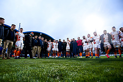 Worcester Warriors huddle after defeat to Bath Rugby - Mandatory by-line: Robbie Stephenson/JMP - 15/02/2020 - RUGBY - Sixways Stadium - Worcester, England - Worcester Warriors v Bath Rugby - Gallagher Premiership Rugby