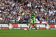 Forest Green Rovers Charlie Cooper(20) on the ball during the Vanarama National League Play Off Final match between Tranmere Rovers and Forest Green Rovers at Wembley Stadium, London, England on 14 May 2017. Photo by Shane Healey.