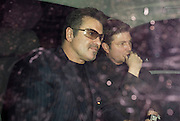 15.OCTOBER.2009 - LONDON<br /> <br /> GEORGE MICHAEL AND PARTNER KENNY GOSS ARRIVING AT NOBU RESTAURANT, BERKLEY SQUARE WITH GEORGE SHOWING OFF HIS WEDDING RING. THEY STAYED AT NOBU TILL 11.30PM BEFORE LEAVING AND HAD A GIGGLE IN THE CAR AS THEY LEFT.<br /> <br /> BYLINE: EDBIMAGEARCHIVE.COM<br /> <br /> *THIS IMAGE IS STRICTLY FOR UK NEWSPAPERS &amp; MAGAZINES ONLY*<br /> *FOR WORLDWIDE SALES &amp; WEB USE PLEASE CONTACT EDBIMAGEARCHIVE-0208 954 5968*