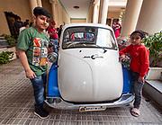 India, Madhya Pradesh. Gwalior. Jai Vilas Palace. BMW Isetta.