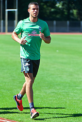 01.07.2015, Weserstadion, Bremen, GER, 1. FBL, SV Werder Bremen, Trainingsauftakt, im Bild Franco Matías Di Santo / Franco Matias Di Santo (SV Werder Bremen #9) beim Laktattest // during a Trainingssession of German Bundesliga Club SV Werder Bremen at the Weserstadion in Bremen, Germany on 2015/07/01. EXPA Pictures © 2015, PhotoCredit: EXPA/ Andreas Gumz<br /> <br /> *****ATTENTION - OUT of GER*****