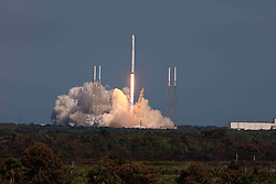 SpaceX Falcon 9 Rocket launch at Kennedy Space Center.