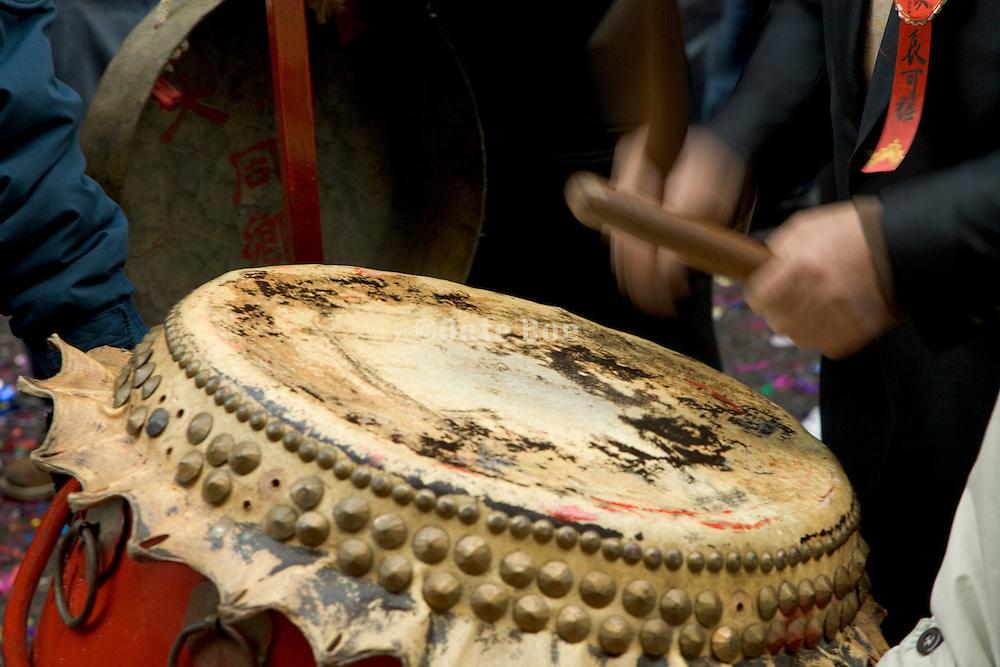 Chinese New Year drummer Chinatown New York