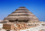 Djoser (Zoser) second king of 3rd dynasty (c2686-c2613 BC) Ancient Egypt. Djoser's Step Pyramid at Saqqarah