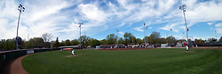 22 April 2017:  Marian Kneer Field panoramic from centerfield during a Missouri Valley Conference (MVC) women's softball game between the Missouri State Bears and the Illinois State Redbirds on Marian Kneer Field in Normal IL