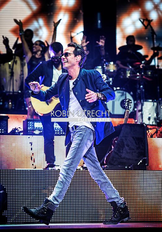 18-7-2015 - ROTTERDAM - Concert of Marc Anthony in the Rotterdam Ahoy during his Cambio de Piel Tour 2015 tour . COPYRIGHT ROBIN UTRECHT<br /> 18-7-2015 - ROTTERDAM -  concert van Marc Anthony komt 18 juli 2015 naar Ahoy Rotterdam. De 46-jarige Puerto Ricaanse singer-songwriter die wereldwijd meer dan 12 miljoen albums heeft verkocht, is tevens bekend als Hollywood-acteur. Ondanks dat Marc Anthony al 27 jaar in het vak zit, heeft hij nog nooit in Nederland opgetreden. Het twee uur durende concert is onderdeel van zijn nieuwe Europese Cambio de Piel Tour 2015. Voor deze tour zal hij 6 Europese steden aandoen waarvan Rotterdam de laatste is. COPYRIGHT ROBIN UTRECHT