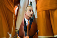 WACO, TX - JANUARY 31: Texas Longhorns head coach Rick Barnes has words for his team against the Baylor Bears on January 31, 2015 at the Ferrell Center in Waco, Texas.  (Photo by Cooper Neill/Getty Images) *** Local Caption *** Rick Barnes