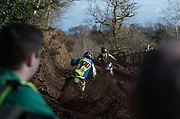 Tommy Searle was on hand and showed good speed at times. Here he follow Gautier Paulin of France.