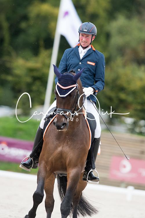 Hosmar Frank, (NED), Alphaville NOP<br /> Grade IV Team Test<br /> Para-Dressage FEI European Championships Deauville 2015<br /> &copy; Hippo Foto - Jon Stroud<br /> 18/09/15