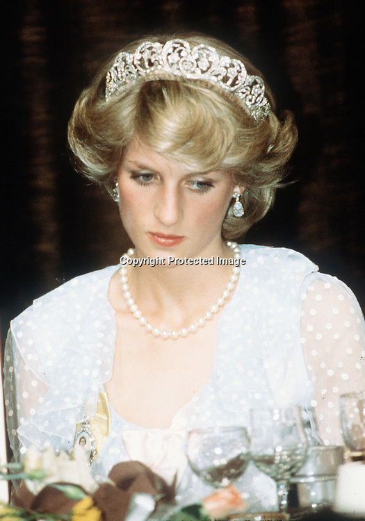 Portrait of Diana in New Zealand, looking sad