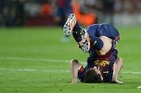 FUSSBALL   INTERNATIONAL   CHAMPIONS LEAGUE   2012/2013      FC Barcelona - Celtic FC Glasgow       23.10.2012 Lionel Messi (Barca) mit einer Rolle Rueckwaerts
