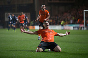 30th August 2019; Dens Park, Dundee, Scotland; Scottish Championship, Dundee Football Club versus Dundee United; Cammy Smith of Dundee United celebrates after scoring for 6-2 in the 83rd minute