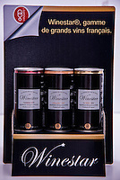 "Paris, FRANCE - OCTOBER 02: Wine in cans<br /> A domain in Beaujolais sells wine in cans under the new brand Winestar ® .<br /> The French company says to be able to commercialise in 2014 a Beaujolais wine in cans <br /> In recent months, Fabulous brand , based near Paris, has launched an innovative concept with Winestar ® : Three wines of Corbières are already packaged and distributed in the black cans (18.7 & cl 2.50 euros sold at retail). <br /> A first in France<br /> According to Cedric Segal , the young CEO of Fabulous Brand, the can is the ideal packaging because it perfectly protects from air and light .<br /> Winestar uses a unique and patented technology , and is the one approved by the prestigious association ""Masters of Wine"".<br /> This can is environmentally friendly.  It is infinitely recyclable , with very little energy .<br /> Its lightness and compactness also generate a significant reduction of the carbon footprint.  It can carry twice as much wine for the same weight / volume. <br /> Ultimate advantage: nevermore your wine will smell the cork, on October 2, 2013 in Paris, France. (Photo by Bruno Vigneron/Getty Images)"