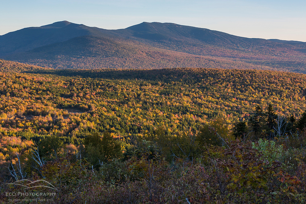 Saddleback Mountain and The Horn as seen from Reddington Township, Maine. High Peaks Region.