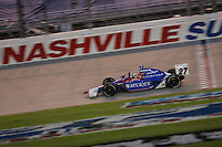 Dario Franchitti wins at the Nashville Superspeedway, Firestone Indy 200, July 16, 2005