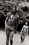Bunny Wailer soccer match on his Farm in Hectors River Portland Jamaica. 1978
