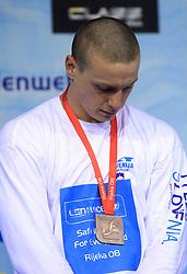 Emil Tahirovic, 3rd place in 50m Men`s Breaststroke (SLO)  at 3rd day of LEN European Short Course Swimming Championships Rijeka 2008, on December 13, 2008,  in Kantrida pool, Rijeka, Croatia