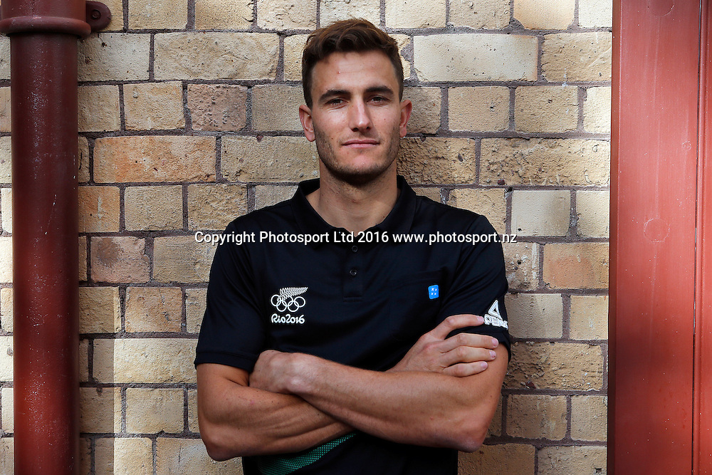 Blair Tuke, 49er sailor, New Zealand Yachting team pre-departure media session ahead of the Rio 2016 Olympic Games. Zhik shop, Victoria Park Markets, Auckland, 26 July 2016. Copyright Image: William Booth / www.photosport.nz