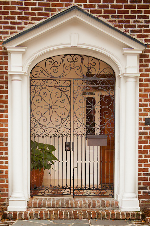 Entrance to house downtown Charleston, South Carolina near Vendue Street