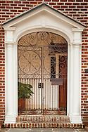 Entrance to house downtown Charleston, South Carolina near Vendue Street