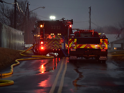 A Parkland High School bus depot and several buses were destroyed by fire early in the morning of Feb. 23, 2018, in South Whitehall Township.
