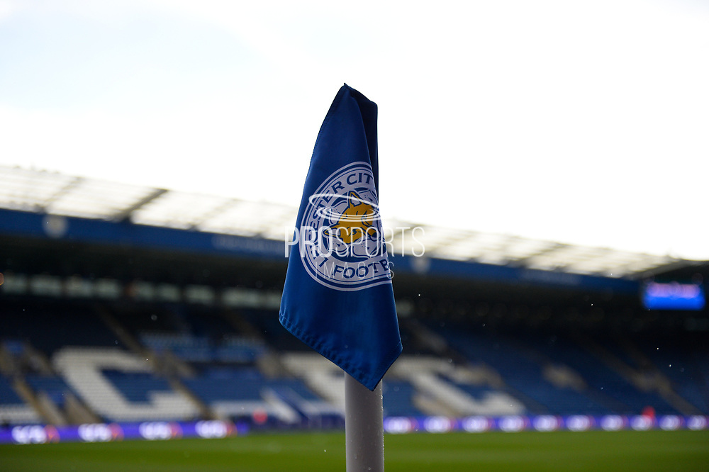 Corner flag during the Premier League match between Leicester City and Chelsea at the King Power Stadium, Leicester, England on 9 September 2017. Photo by Jon Hobley.