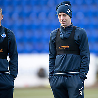 St Johnstone Training….<br />Steven Anderson and Steven MacLean pictured during training at McDiarmid Park ahead of Wednesday nights game at Ross County<br />Picture by Graeme Hart.<br />Copyright Perthshire Picture Agency<br />Tel: 01738 623350  Mobile: 07990 594431