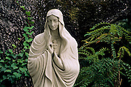 Statue of the Virgin Mary at White Oak, Carmel Valley Village, Carmel Valley, Monterey County, California