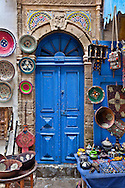 Blue Moroccan Doorway Shop in Essaouira, Morocco