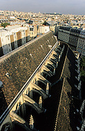 France. Paris. elevated view. church  Saint Nicolas des champs, 75003. view from the church bell tower