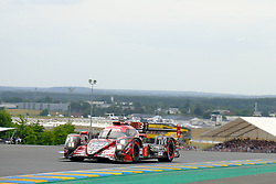 June 16, 2018 - Le Mans, Sarthe, France - Rebellion Racing R13 Gibson Driver ANDRE LOTTERER (GER) in action during the 86th edition of the 24 hours of Le Mans 2nd round of the FIA World Endurance Championship at the Sarthe circuit at Le Mans - France (Credit Image: © Pierre Stevenin via ZUMA Wire)
