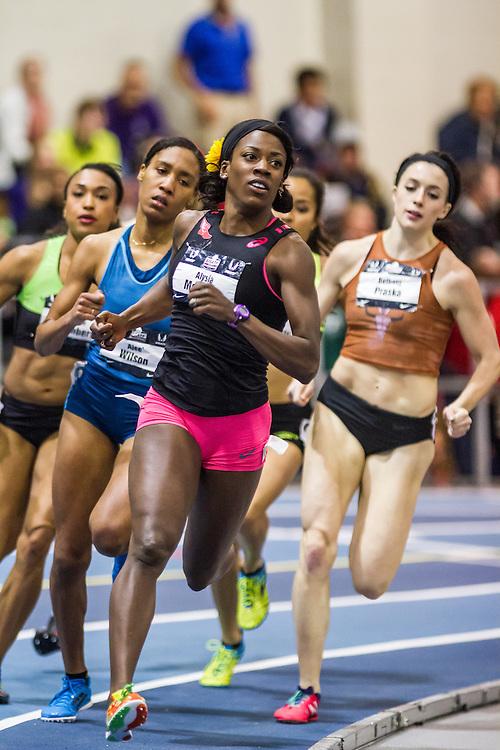 USATF Indoor Track & Field Championships: womens 600, Alysia Montano,