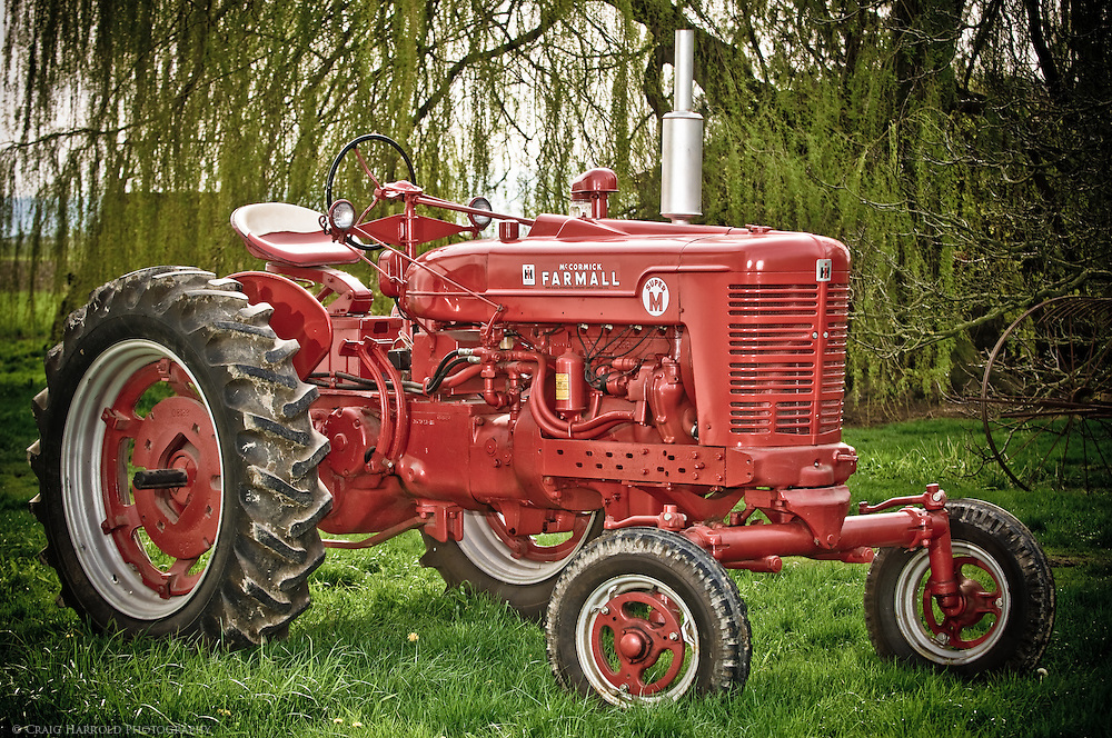 Farmall antique tractor photographed for Skagit Valley, WA. farmer.