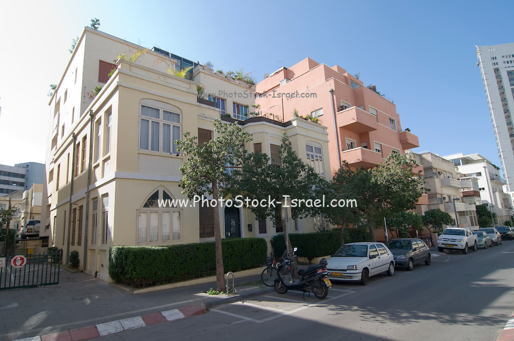 Israel, Tel Aviv, Eclectic style building at 20 Mazeh street.