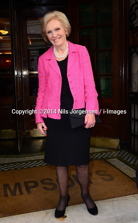 Mary Berry attends at the Oldie of the Year Awards in London, Tuesday, 4th February 2014. Picture by Nils Jorgensen / i-Images