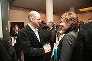Gavin Turk and Chloe Ruthven, Other,Riyas Komu and Peter Drake. - VIP  launch of Aicon. London's largest contemporary Indian art gallery. Heddon st. and afterwards at Momo.15 Marc h 2007.  -DO NOT ARCHIVE-© Copyright Photograph by Dafydd Jones. 248 Clapham Rd. London SW9 0PZ. Tel 0207 820 0771. www.dafjones.com.