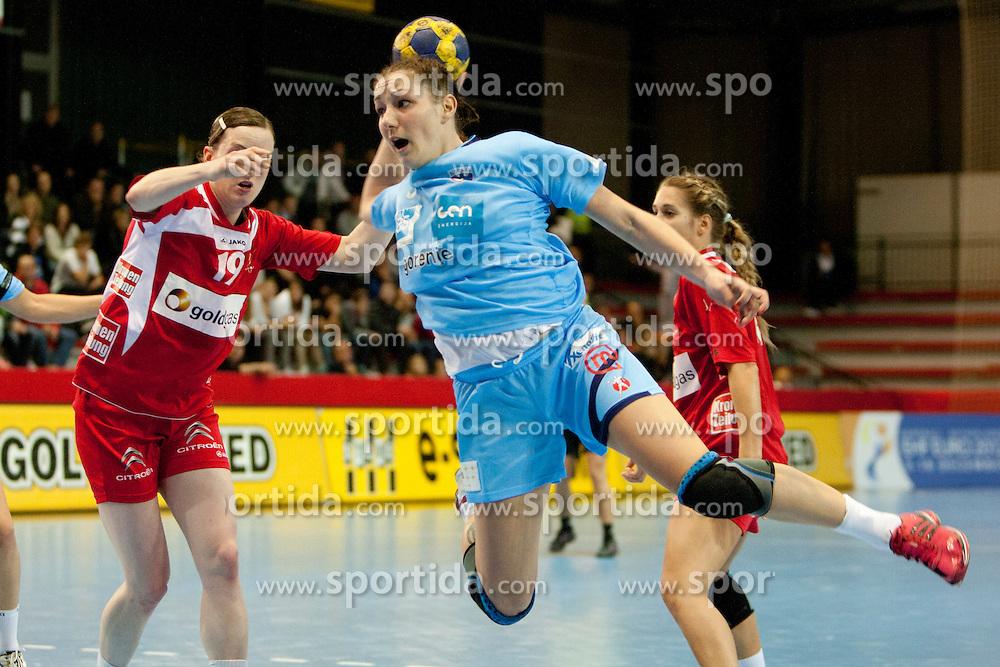 Nina Jericek of Team Slovenia during Women European Championship Qualification handball match between National Teams of Slovenia and Austria, on 23th October, 2011 in Kodeljevo, Ljubljana, Slovenija (Photo by Urban Urbanc / Sportida )
