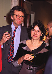 The HON.WILLIAM & HON.MRS SHAWCROSS, she is the daughter of Lord Forte, at an exhibition in London on 8th January 1998.MEL 22