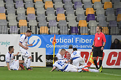 Zan Benedicic of Celje celebrates goal with his teammates during football match between NK Maribor and NK Celje in Round #24 of Prva liga Telekom Slovenije 2018/19, on March 30, 2019 in stadium Ljudski vrt, Maribor, Slovenia. Photo by Milos Vujinovic / Sportida