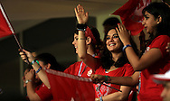 Preity Zinta Owner of Kings XI Punjab during match 15 of the Pepsi Indian Premier League 2014 Season between The Kings XI Punjab and the Kolkata Knight Riders held at the Sheikh Zayed Stadium, Abu Dhabi, United Arab Emirates on the 26th April 2014<br /> <br /> Photo by Sandeep Shetty / IPL / SPORTZPICS