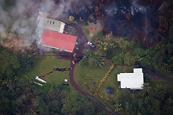 2018 05 24 - Pahoa, Hawaii, USA:  Huge ground cracks form in the Leilani Estates subdivision, indicating shallow magma movement, and potential eruption sites.<br />